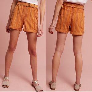 Anthropologie Hei Hei Tahiti Belted Shorts Small